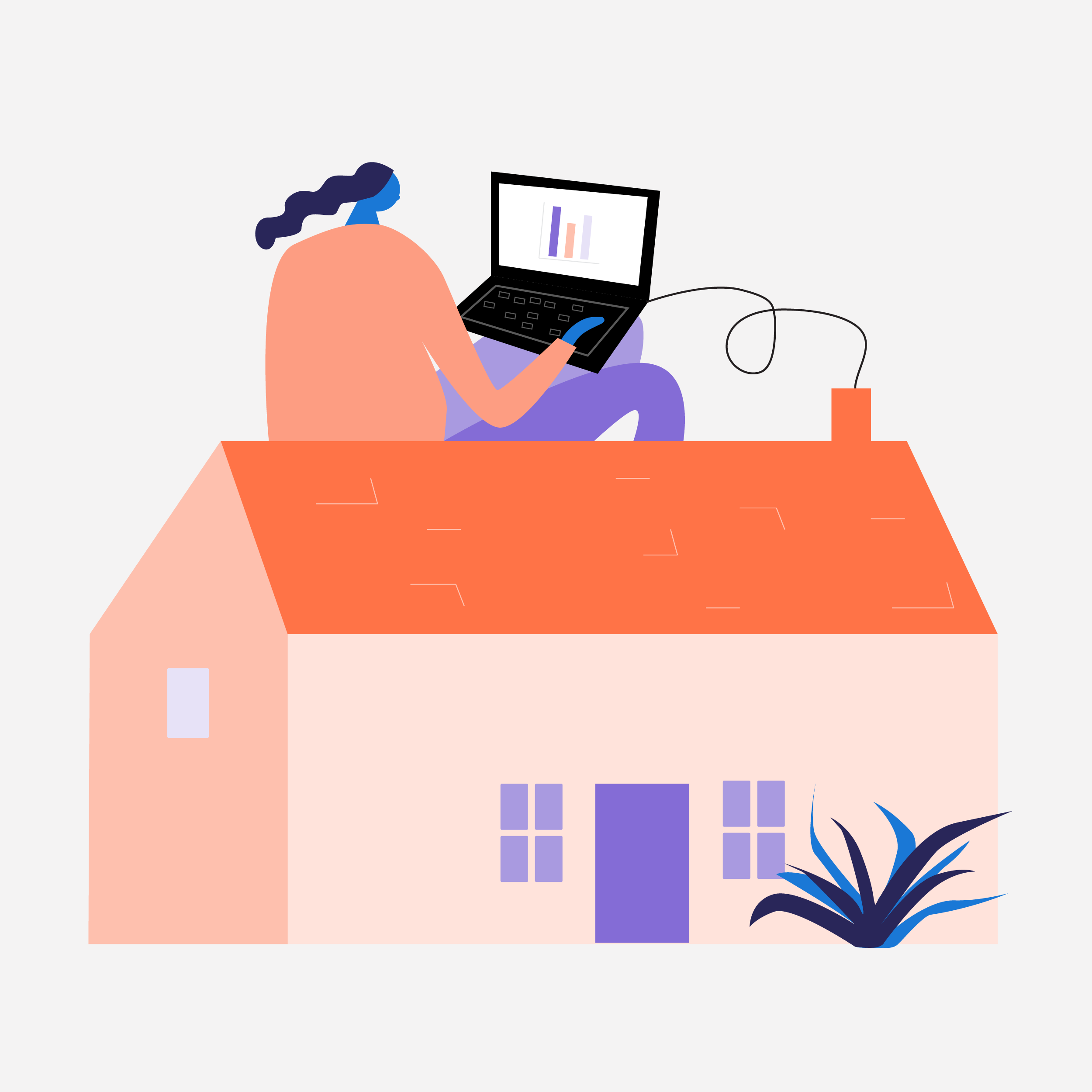 Kearney Group - Working From Home Illustration 01